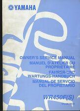 (21A) REVUE TECHNIQUE MANUEL ATELIER YAMAHA WR450F(S)