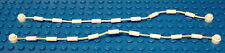 LEGO - Set of 2  NEW White String with End Studs 21L Overall with Climbing Grips