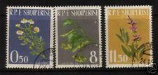 ALBANIA 1962 MEDICINAL PLANTS  SET 3 FU
