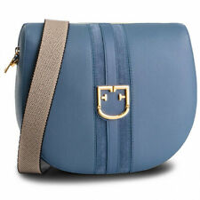 Woman Shoulder bag Furla Gioia S 1007606in bicolor blue leather small crossbody