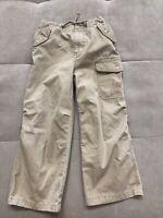 Mini Boden Boys Beige Cotton Cargo Pants Size 5-6 Shorts
