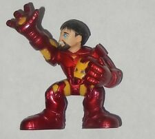 Marvel Superhero Squad Tony Stark Iron Man Holding Mask Free Shipping!