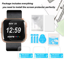 Pack 3 Screen Protector Film for Fitbit Versa Smart watch Ultra Thin HD Clear