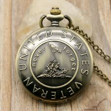 Pocket Watch with Chain Motive United States veteran-never Forget Vietnam US (