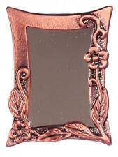 Dolls House Miniature Antique Copper Climbing Flower Framed Mirror