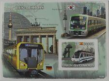 Metro Trains Subway Locomotives Comores 2008 s/s Sc.1016 MNH #CM8120b IMPERF