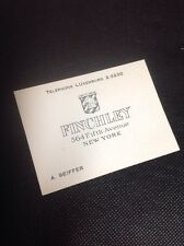 Rare Large Vintage Finchleys Fifth Avenue Legendary Mens Store Card Old Ny
