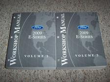 2009 Ford E250 Cargo Wagon Van Shop Service Repair Manual Set 4.6L 5.4L V8