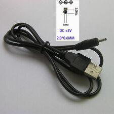 USB A Male to 0.6X2.0mm Connector 5V DC Charger Power Cable Cord For NOKIA