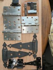 Large lot of 11 new and used hinges