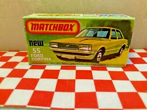 Matchbox Lesney Superfast No55 Ford Cortina EMPTY Repro box only NO CAR