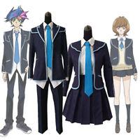 Yu-Gi-Oh VRAINS Yusaku Fujiki Zaizen Aoi School Uniform Set Cosplay Costume Suit