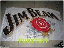 JIM BEAM BOURBON FLAG ~ ORIGINAL LOGO ~ BRAND NEW AUTHENTIC GENUINE MERCHANDISE