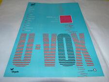 ULTRAVOX - Publicité de magazine / Advert SAME OLD STORY !!!