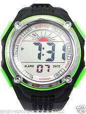 Men Boy Digital Watch Biking Sports Alarm Date Day Light Stopwatch Green Plastic