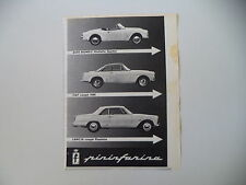 advertising Pubblicità 1960 LANCIA FLAMINIA COUPE'/FIAT 1500/GIULIETTA SPIDER