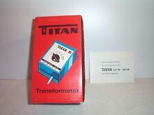 TITAN TRAFO TRANSFORMATOR 107 M FÜR MÄRKLIN 35 VA 2,2 A,analog,OVP NEUWERTIG