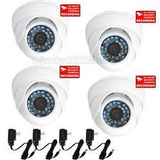 4 Pack Weatherproof IR LEDs Night Dome Security Camera CCD CCTV Surveillance 1fi