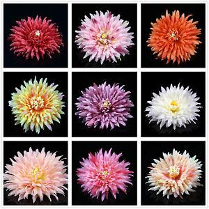 Large Artificial Silk Fake Big Daisy Flower heads Bulk 10Pcs Wedding Home Decor