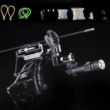 Outdoor Powerful Laser Target Hunting Slingshot Fishing Catapult Archery Arrows