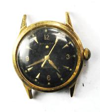 Vintage Baylor 1 Star Automatic Black Dial 1361 33mm 14k Top S/S Back Wristwatch