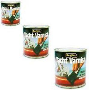 Rustins - Yacht Varnish Gloss & Satin For Wood Timber - 250ml / 500ml / 1L