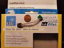 ESU 54683 LokPilot Micro DECODER v4 DCC/Mot/CAVO SX + 8 poli spina NUOVO OVP