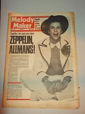 MELODY MAKER 1974 MAY 25 LEO SAYER ALLMAN BROTHERS LED ZEPPELIN DOOBIE BROTHERS