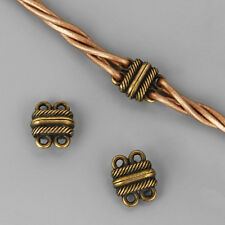 5Sets Antique Bronze 2 Strands Magnetic Clasp Fit 2mm Round Leather Cord