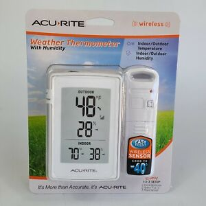 ACU-RITE WEATHER FORECAST THERMOMETER W/HUMIDITY NEW SEALED PACKAGE