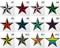 #374R Large Star Nautical Embroidered Sew Iron On Patch Applique Badge 3.5 inch