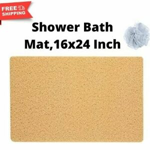 Hydro Wonder Super Comfy Shower Mat that Never Stains or Blocks Your Drain Beige