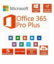 MS®OFFICE 365 LIFETIME Account for 5 DEVICES - Android , PC and Mac 5TB