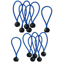 12 Pack 4'' Ball Bungee Bungie Cord Heavy Duty Canopy Tarp Tie Downs Straps