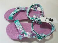 Girls Finola Easy Closure Strap Sport Sandals - Cat & Jack - Aqua &  Purple -NWT
