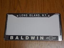 BALDWIN MOTION CHEVERLOT  LICENSE PLATE FRAME  CAMARO, CHEVELLE, NOVA