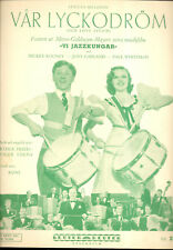 "STRIKE UP THE BAND Sheet Music ""Our Love Affair"" Judy Garland SWEDISH"