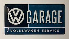 VW Garage Volkswagen Service - Tin Metal Wall Sign