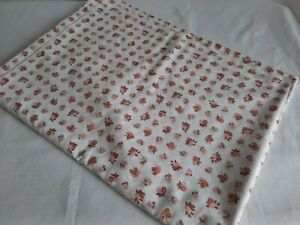 Vintage floral ditsy double size flat sheet bedding Retro polycotton bed sheet