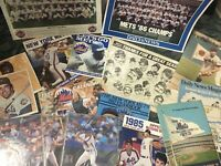 VINTAGE NEW YORK METS LOT 1986 Era Yearbooks, Team Photos, Bill Gallo, Calendar