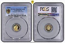 NORTHERN MARIANA ISLANDS GOLD PROOF 5$ COIN 2004 YEAR ALBERT EINSTEIN PCGS PR69