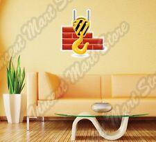 "Crane Hook Construction Builder Wall Sticker Interior Decor 25""X22"""
