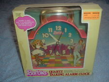 1983 Barbie & Ken Talking Alarm Janex Clock with Original Box.Tics & Talks.