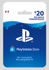 Sony PSN Playstation Store Hanging Card 20 Euro Ricarica Portafoglio IT IMPORT