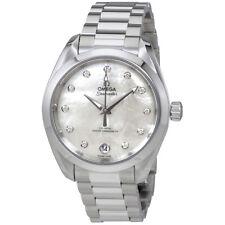Omega Seamaster Aqua Terra Mother of Pearl Diamond Dial Ladies Watch