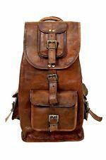 Vintage Crafts Leather Messenger Rucksack Leather Men's Backpack Laptop Book Bag