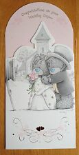 "'Congratulations On Your Wedding Day' Me to You Card - Tatty Bear - 8.25""x4"""