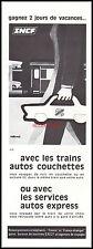 Publicité SNCF Trains Couchettes vintage  ad    1967 -3j