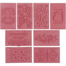 Soap Embossing Stamp Assortment 8pcs Square Add unique designs to handmade soap