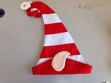 Christmas Striped Elf Hat With Ears Festive Holiday Costume Accessory